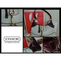 Bolsa Coach Pebbled # 10284 Con Su Tag Orig. De Piel Hermos