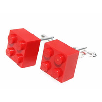 Mancuernillas Pieza Lego Roja, Traje Camisa