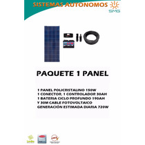 Kit 1 Panel Fotovoltaicos - Energía Solar