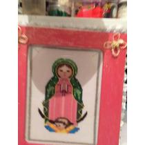 Cuadro De Virgen Realizado En Punto De Cruzcruz