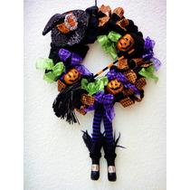 Halloween Corona Sombrero Bruja Día De Muertos Decoración