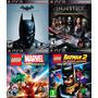 4 Juegos Ps3 Injustice, Batman Origins Lego Marvel .:ordex: