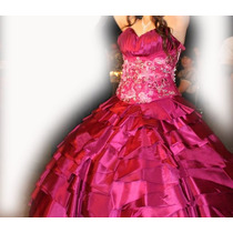 Vestido Xv Años Bugambilia Diseño Exclusivo, Gratis Tiara