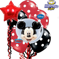 Paquete Globo Mickey Burbuja,fiesta Mouse,globo Estrella.
