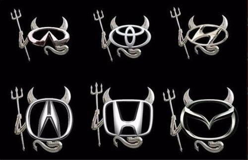 Sticker 3d Devil Mazda, Volkswagen, Bmw, Toyota, Hyundai Foto 3