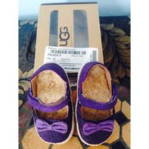 Sandalias/zapatos Infantiles Ugg Plantilla Piel De Borrego