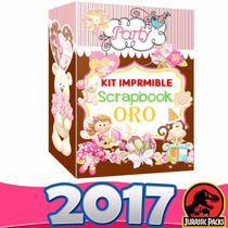 Scrapbook Mega Kit Imprimible Scrapbook Oro +regalos 2016