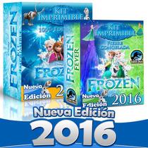 Kit Imprimible Fiesta Frozen Completo 100% Editable 2015