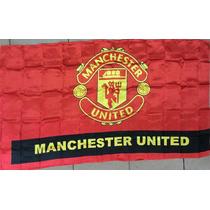 Bandera Premium Fc Manchester 150 X 90cm. Futbol Europeo