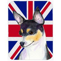 Terrier De Rata Con Unión Jack Británica Inglés Cristal D