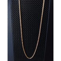 Cadena Acero Inoxidable Dorado Diseño Cartier 3mm Ancho