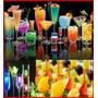 Paquete Fiesta Botanero Neon, Led Bocadillo,palillos Hielos