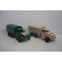 Camion Militar Cruz Roja Set De 2 Camioncito Juguete Escala