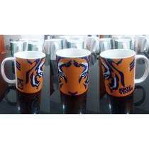 Taza Blanca 11oz Con Diseño De Tigres A $70
