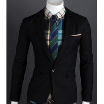 Saco Blazer Hombre Juvenil Slim Fit Moda Japonesa Oriental
