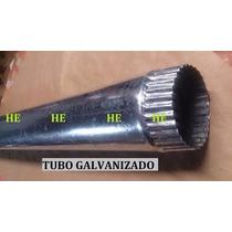 Ducto Yarda Tubo Chacuaco 4 De Lamina Galvanizada
