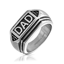Bling Jewelry Inoxidable Anillo Papá Para Hombre Negro Esma