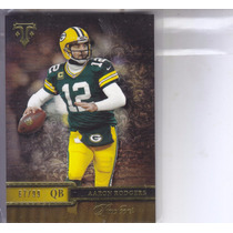 2014 Topps Triple Threads Gold Aaron Rodgers Qb Packers /99