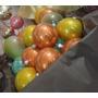 30 Esferas De Vidrio Soplado 12 Rellenas De Escarcha Colores