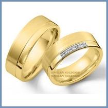 Argollas De Matrimonio Mod. Athena Oro Amarillo 14k Solido