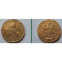 Moneda Mexico 1/2 Escudo 1857 Oro Excelente