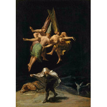 Lienzo Tela Vuelo De Brujas 1797 Francisco Goya 71 X 50 Cm