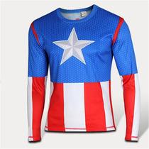 Playera Derpotiva Capitan America Camiseta Gym