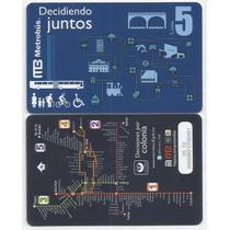 Tarjeta Metrobus De Colección Linea 5 - Dificil De Conseguir