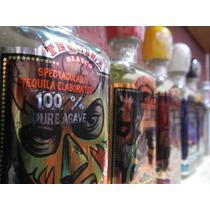 Botella Miniatura Vidrio Tequila Rudo Y Técnico 50 Ml Vacia