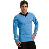 Disfraz / Camisa De Star Trek Azul Para Adultos Envio Gratis