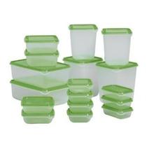 Ikea Envase De Alimento 601.496.73 Conjunto De 17 Verde