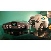 Nintendo 64 Con Cables, Control Y Dos Juegos.