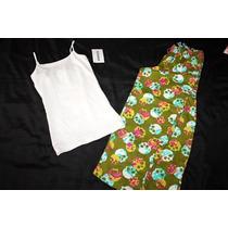 Aeropostale Jenni Moore Set Pijama Dama Calaveras Capri S