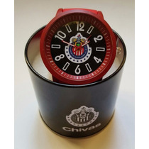 Reloj De Pulsera De Chivas Guadalajara, Incluye Estuche