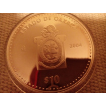 Moneda Escasa De Estados Oaxaca Onza Plata 100 Pesos