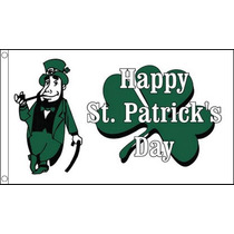 St Patricks Día De La Bandera - Feliz (blanco) De Irlanda I