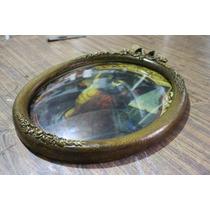 Marco Ovalado Con Vidrio Concavo