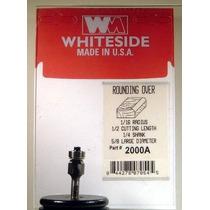 Whiteside Fresas 2000a Redondos Con 1 Bit / 16-inch Un Radio