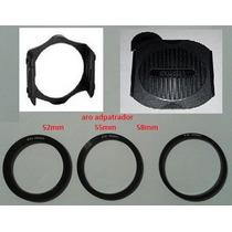 3 Pack Cokin Porta Filtro Aro Adaptadpor Y Tapa Camara Zoom