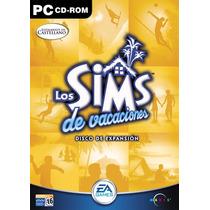 Pc - Sims Vacaciones Disco Fisico (acepto Mercado Pago)