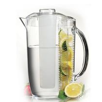 Jarra Acrilico Infusion Jugos Conserva Bebidas 2.7 Litros