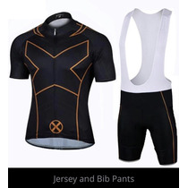 X-men Jersey Ciclismo Playera+shorts Demora 4-5 Semanas