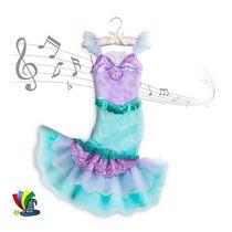 Disfraz Vestido Ariel Sirenita Original Disney Store Musical