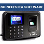 Reloj Checador Con Huella Digital - No Necesita Software Usb