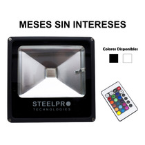 Steelpro Reflector Led Rgb Multicolor 50w,con Control Remoto