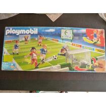 Playmobil 4700 Cancha De Futbol Usado Solo Falta 1 Pza.