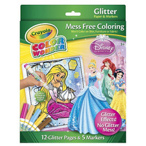 Crayola Color Wonder Glitter Colorear Set - Disney Princess