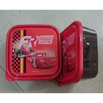Fiesta Cars Rayo Mc Queen Sandwichera Tupper Como Dulcero