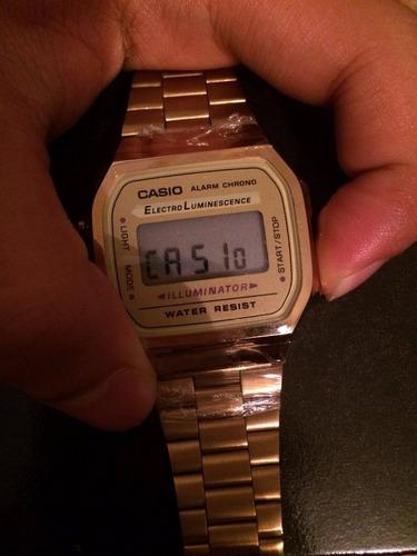 6ef3f89a85bb Reloj Casio Dorado A168 Con Caja  429 cHy6d - Precio D México