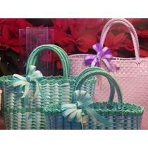 Bolsa Dama Artesanal De Plastico Reciclado (precio Por 2)